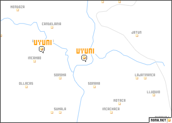 map of Uyuni