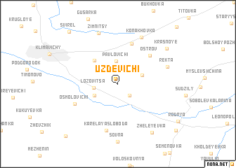 map of Uzdevichi