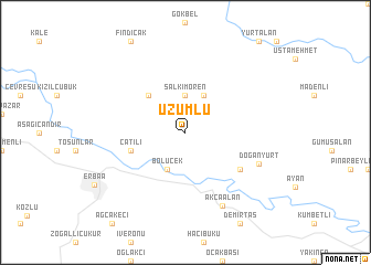 map of Üzümlü