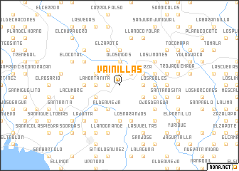 map of Vainillas