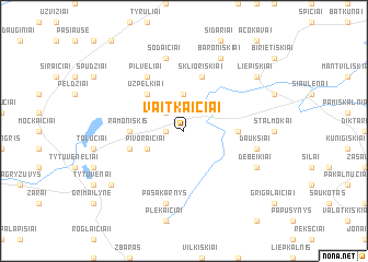 map of Vaitkaičiai