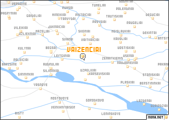 map of Vaiženčiai