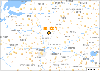 map of Vajkan