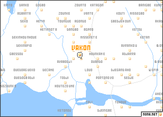 map of Vakon