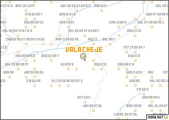 map of Valacheje