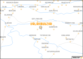 map of Valakbūdžiai