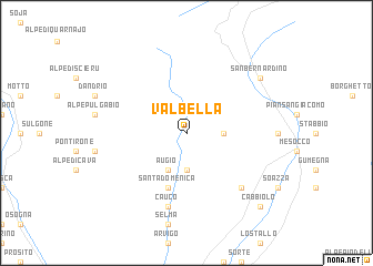 map of Valbella
