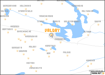 map of Valday