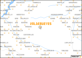 map of Valdebueyes