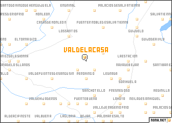 map of Valdelacasa
