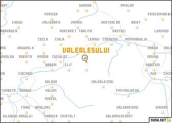 map of Valea Leşului