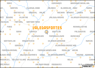map of Vale das Fontes