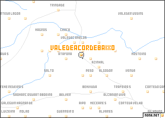 map of Vale de Açor de Baixo