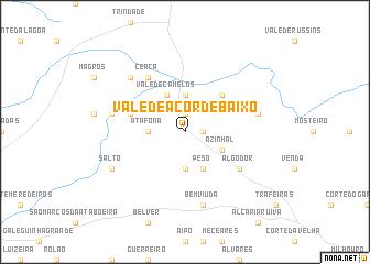map of Vale de Açor de Baixo