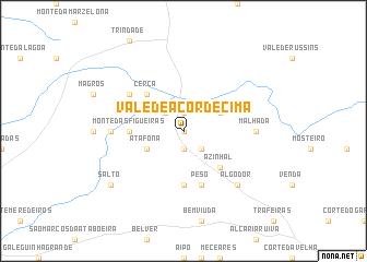 map of Vale de Açor de Cima