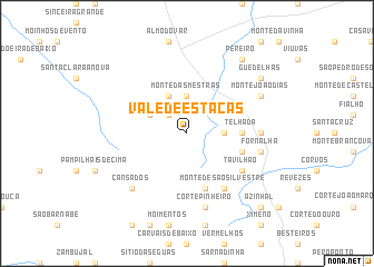 map of Vale de Estacas