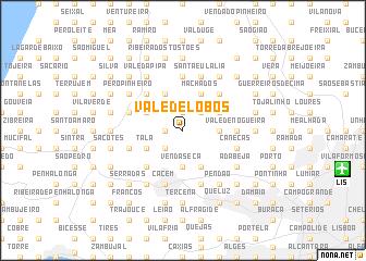 map of Vale de Lobos