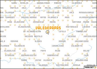 map of Vale de Papas