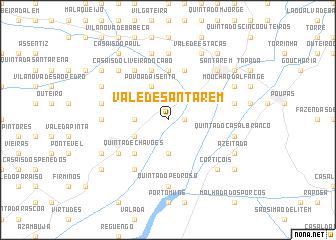 map of Vale de Santarém