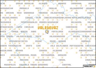 map of Vale de Vaz
