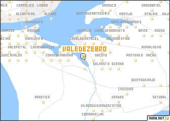 map of Vale de Zebro
