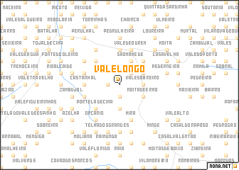 map of Vale Longo