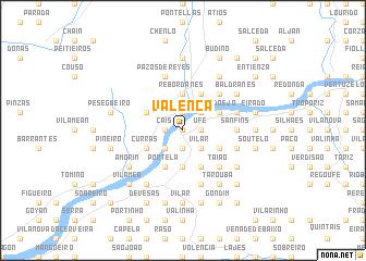 Valença Portugal Map Nonanet - Valenca portugal map