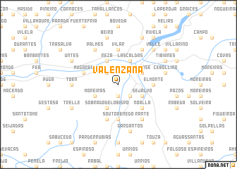 map of Valenzana