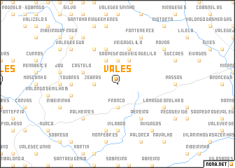 map of Vales