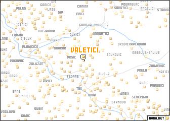 map of Valetići