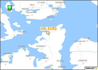 map of Valevåg