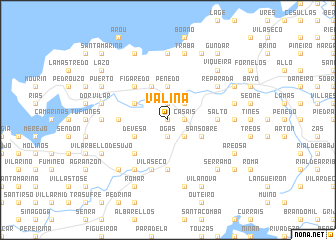 map of Valiña