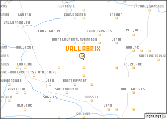map of Vallabrix