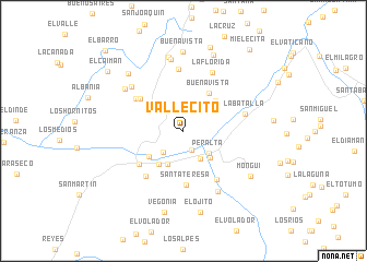 map of Vallecito