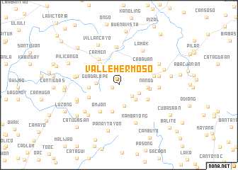map of Vallehermoso