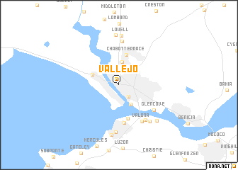 map of Vallejo