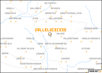 map of Valleluce-Cese
