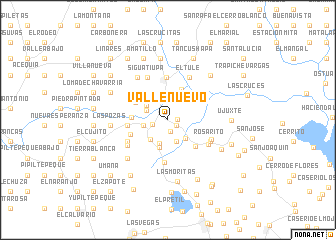 map of Valle Nuevo