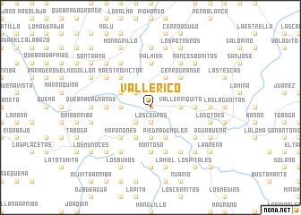 map of Valle Rico