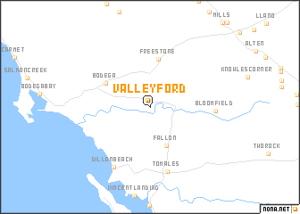 map of Valley Ford