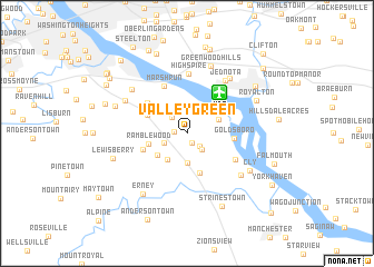 map of Valley Green