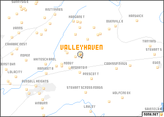 map of Valleyhaven
