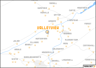 map of Valley View