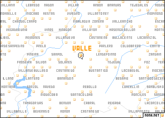 map of Valle