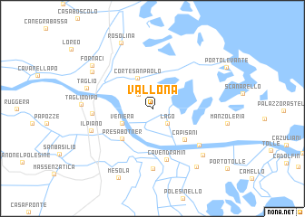 map of Vallona