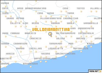 map of Valloria Marittima