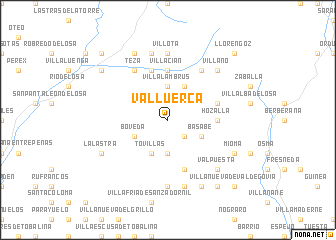 map of Valluerca