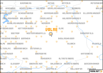 map of Valme
