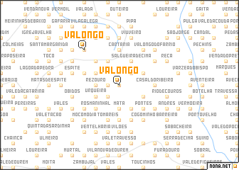 map of Valongo