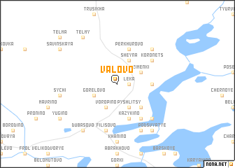 map of Valovo